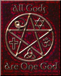 old red unity pentacle